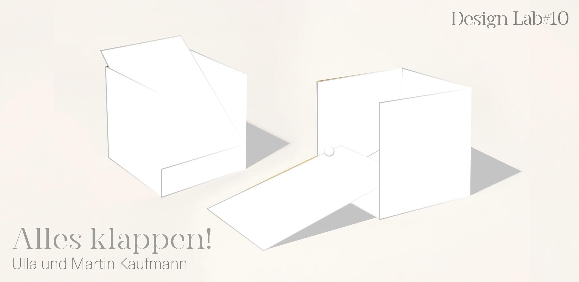 Ausstellungsgrafik Design Lab #10 Alles klappen! Ulla und Martin Kaufmann